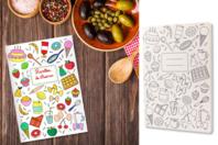Carnet de recettes à colorier - Coloriages - 10doigts.fr