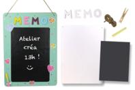Kit GRAND Mémo en carton blanc - Mémo et magnet - 10doigts.fr