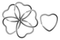 Anneaux métalliques brisés coeur - Lot de 6 - Accessoires pour plastique magique - 10doigts.fr