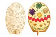 Oeuf en bois naturel à colorier - Pâques - 10doigts.fr