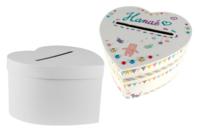 Urne coeur ou carrée en carton blanc - Boîtes - 10doigts.fr