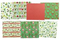 Papiers de Noël - Set de 7 feuilles - Papiers de fêtes - 10doigts.fr