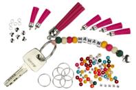 """Porte-clés """"Maman"""" - Kit pour 6 réalisations - Kits bijoux - 10doigts.fr"""