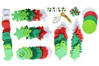Méga pack formes de Noël à décorer et à suspendre - Caoutchouc souple - 10doigts.fr