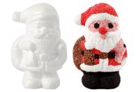 Père Noël en polystyrène - Sujets en polystyrène - 10doigts.fr