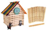 Bâtonnets crantés en bois pour construction - Bâtonnets, tiges, languettes - 10doigts.fr