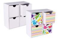 Meuble de rangement en carton blanc - Supports Bureau en carton - 10doigts.fr
