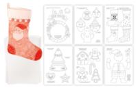 Plastique magique translucide + 20 dessins de NOEL à décalquer - 3 feuilles - Plastique MAGIQUE - 10doigts.fr