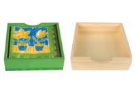 Plateau carré en bois - 19 cm - Plateaux en bois - 10doigts.fr