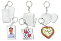 Porte-clefs en plastique transparent à personnaliser - Transparent - 10doigts.fr