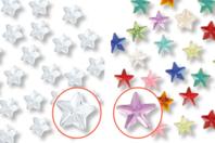 Strass adhésifs étoiles - 72 pièces - Strass autocollant, cabochons autocollant - 10doigts.fr