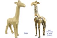 Girafe en carton papier maché - Animaux - 10doigts.fr