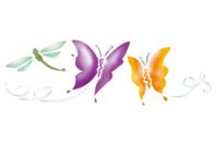 Pochoir frise Papillons - 15 x 40 cm - Pochoirs frises - 10doigts.fr