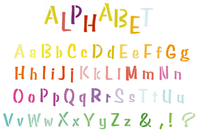 Pochoir Alphabet - Pochoir Alphabet - 10doigts.fr