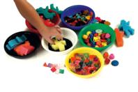 Coupelles en plastique, couleurs assorties - Palettes et rangements - 10doigts.fr