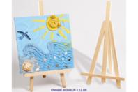 Chevalet en bois - 26 x 13 cm - Chevalets et accessoires - 10doigts.fr