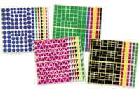 Maxi lot de 10890 gommettes géométriques - Gommettes géométriques - 10doigts.fr