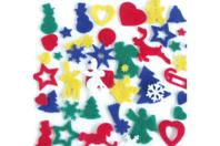 Formes de Noël en feutrine - Set de 170 - Feutrine, feutre, toile de jute - 10doigts.fr