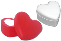 Boîte coeur en polystyrène 14 cm - Boîtes à bijoux - 10doigts.fr
