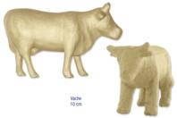Vache en carton papier mâché - Animaux - 10doigts.fr