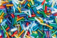 Perles de rocaille tubes métallisés 6 ou 12 mm - Perles de rocaille - 10doigts.fr