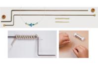 Set de 2 outils à spirales en fil métal - Fermoirs - 10doigts.fr