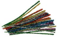 Chenilles couleurs métallisées assorties - Chenilles, cure-pipe - 10doigts.fr