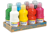 Gouache GIOTTO 250 ml - Lot de 8 couleurs - Gouaches GIOTTO - 10doigts.fr