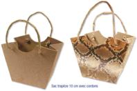 Sac trapèze avec cordons, en carton papier mâché - Pâques - 10doigts.fr