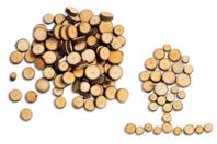 Rondelles de bois naturelles - Bois - 10doigts.fr