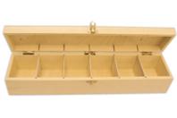 Boîte en bois à 6 cases - Boîtes et coffrets - 10doigts.fr