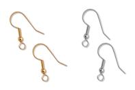 Crochets d'oreilles Or ou Argent - Lot de 6 - Boucles et pendentifs d'oreilles - 10doigts.fr