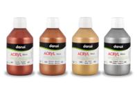 Peinture acrylique métallisée - 80 ou 250 ml - Acrylique Métallisée - 10doigts.fr