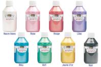 Peinture acrylique nacrée 80 ou 250 ml - Acryliques scolaire - 10doigts.fr