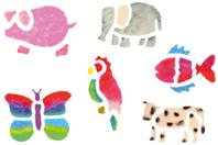 Pochoirs animaux divers - Set de 6 - Pochoir Animaux - 10doigts.fr