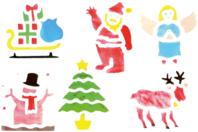 Pochoirs Noël - Set de 6 - Pochoir fêtes - 10doigts.fr