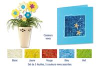 Sisal en feuille couleurs vives assorties - Activités en papier - 10doigts.fr