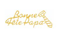 """Stickers Peel Off dorés """"Bonne fête Papa"""" - Stickers contours, Peel off - 10doigts.fr"""