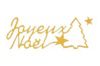 """Stickers Peel Off dorés """"Joyeux Noël"""" - Stickers contours, Peel off - 10doigts.fr"""