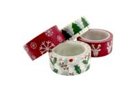 Masking tape Noël - 4 rubans assortis - Accessoires pour décorer - 10doigts.fr
