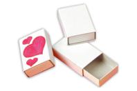 Boîtes d'allumettes en carton blanc - Lot de 10 - Boîtes en carton - 10doigts.fr