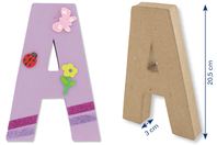 Lettres en carton papier maché - Lettres et Formes - 10doigts.fr