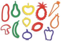 """Emporte-pièces """"Fruits et légumes"""" - Set de 12 - Emporte-pièces - 10doigts.fr"""