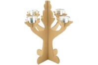 Grand chandelier en bois - Bougeoirs - 10doigts.fr