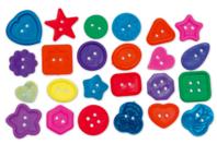 Boutons fantaisie en plastique - Set de 350 - Boutons - 10doigts.fr