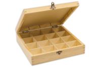 Boîte en bois à 16 cases - Boîtes et coffrets - 10doigts.fr