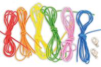 Cordons élastiques colorés + 2 fermoirs  - Set de 6 - Fils Élastiques - 10doigts.fr
