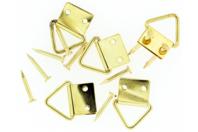 Attache-cadres en laiton - Set de 12 - Chevalets et accessoires - 10doigts.fr