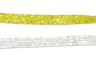 Ruban tressé brillant or ou argent - Rubans et ficelles - 10doigts.fr