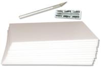 Carton plume blanc 5 mm - 6 planches - Carton mousse - 10doigts.fr